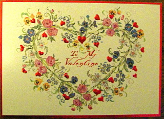 Valentine embossed and foiled I will always love you