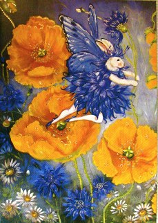 California Poppy Fairy Die cut and foiled